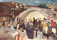 Csontváry Kosztka Tivadar - Mária kútja Názáretben / Mary's Well at Nazareth, 1908 Web Gallery Of Art, Oil Painting Gallery, Figure Painting, Art Reproductions, Great Artists, Art Images, Modern Art, Marvel, Art Prints
