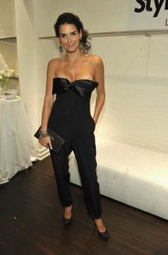 Black Catsuit worn By Angie Harmon. Buy your Catsuit for dance from DCUK Dance Clothes.