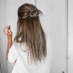 Brownish grey hair