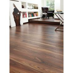 Rich Walnut Laminate Flooring - Laminate Flooring - Flooring -Tiles & Floors - Wickes