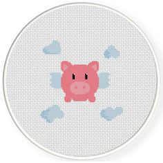 FREE for April 6th 2015 Only - Cutey Piggy Cross Stitch Pattern