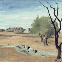 André DERAIN (1880-1954) Paysage de Provence, 1930 Huile sur toile  Signé en bas à droite en noir : a derain  © RMN-Grand Palais (musée de l'Orangerie)