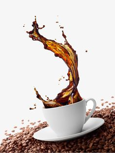 Find Cup Coffee Splash Surrounded By Coffee stock images in HD and millions of other royalty-free stock photos, illustrations and vectors in the Shutterstock collection. Coffee Geek, Coffee Barista, Coffee Cafe, Coffee Drinks, Starbucks Coffee, Street Coffee, Splash Photography, Coffee Photography, Splash Effect