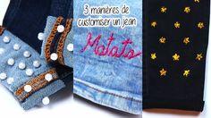 Faites de votre jean basique, une pièce unique ! Site Mode, Facon, Juicy Couture, Denim, Pants, Jackets, Crochet, Dressmaking, Ornaments