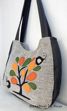Embroidered denim bag Jeans bag with ribbons embroidered Recycled fabric sac Summer floral purse Shoulder bagful Eco friendly tote bag Patchwork Bags, Quilted Bag, Bag Quilt, Sacs Design, Denim Crafts, Denim Bag, Denim Jeans, Embroidered Bag, Jute Bags