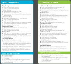 Shake Days and Cleanse Days Schedule for 30 Day. Take 30 to get you body going into the right direction. tgingrich.isagenix.com