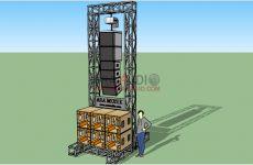 Ukuran Rigging Sound System 5 meter Audio Box, Subwoofer Box, Box Design, Utility Pole, Circuit, Monitor, Iphone Wallpapers, Speaker Design, Crates