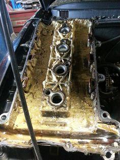 Inside a nasty valve cover.