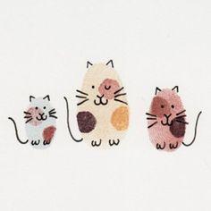 Gatitos con huellas de los dedos...