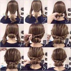 お仕事ヘアー!5分以内でできる、長い髪をすっきりおしゃれにアレンジする方法7選♡の画像 | ギャザリー