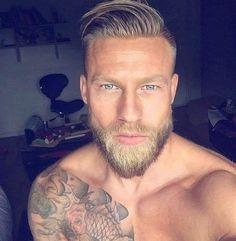 Beard and hair though
