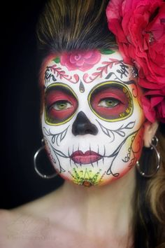 Hope Shots Photography Artist Unique Irish Model Gen H. Silvia Jii Inspired Sugar Skull Face painting