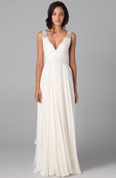 Cheap gown cover, Buy Quality dress bird directly from China dress for wedding reception Suppliers: Simple White Chiffon Boho Wedding Dresses 2016 Robe De Mariage Beading Spaghetti V-neck Wedding Bridal Gowns Floor Length Prom Dresses Under 200, Cheap Prom Dresses, Party Dresses, Formal Dresses, Dresses 2014, Cheap Dress, Formal Prom, Elegant Dresses, Women's Dresses