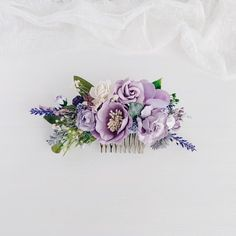 Excited to share this item from my shop: Flower Hair comb, Lavender Bridal hair comb, Wedding hair piece, Bridal flower hair Yellow Wedding Flowers, Cheap Wedding Flowers, Wedding Hair Flowers, Wedding Hair Pieces, Bridal Flowers, Flowers In Hair, Purple Wedding, Wedding Hair Clips, Wedding Hairs