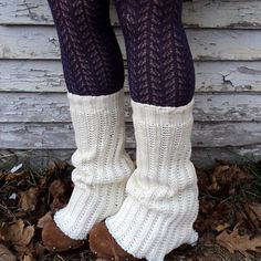 Knit Rescued Sweater Leg Warmers