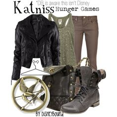"Disney Inspired Outfits ""Katniss"" from hunger games-by lalakay on Polyvore"