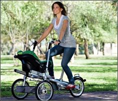 stroller bike. Wish I could have this, but with a double seat in front!
