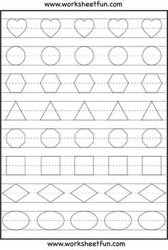 Shape Tracing, Letters & More - lots of preschool tracing, practice sheets.