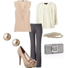Cute work outfit - minus the heels.  I   prefer flats.