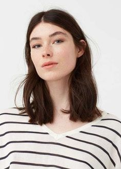 Mango Outlet Fine-knit striped sweater