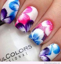 #Flower nail print