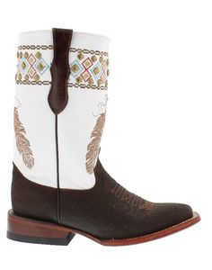 """Ferrini Ladies Aztec Princess Square Toe Chocolate Boot 10"""" Stockman   Country Chic casual fashion accessories for women Casual Outfits for women #countryoutfit #countrygirl drysdales.com #CountryFashion """"gifts for cowgirls"""" """"gifts for ladies"""" """"gifts for women"""" """"casual clothing"""" for ladies #Winter2015"""