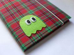 Caderno Pac-Man, revestido em tecido ♥