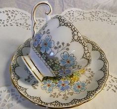 Vintage Plant Tuscan China Made in England Floral design Tea cup & Saucer