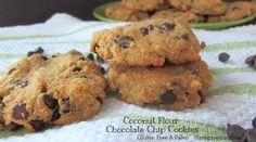 Coconut Flour Chocolate Chip Cookies #glutenfree #paleo