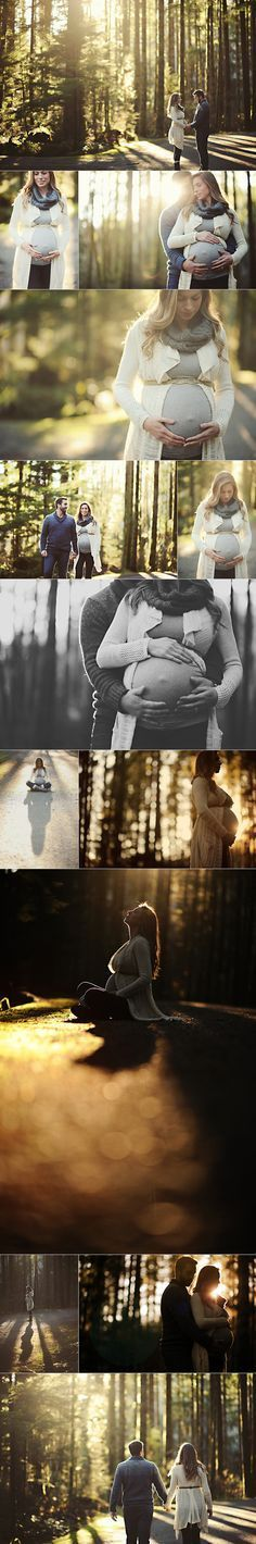 Love this maternity session in the woods. Beautiful light!