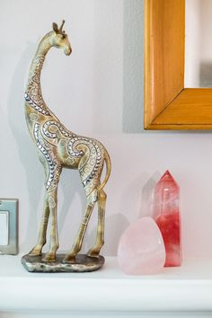 Animal and crystal accents made this room a very peaceful and zen space.