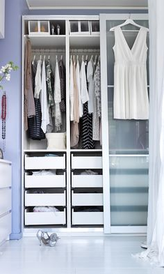 Creating your own custom wardrobe is easier than you think! With IKEA PAX fitted wardrobes, you choose it all - size, color & style!