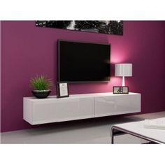 Ego TV Plasma Stand Floating White Gloss/White Mat