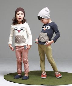 Happy Owl Tee for Happy Owl Tee for boys and girls. Cool kids fashion at Color Me WHIMSY this fall season.
