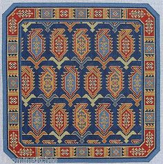 Marsali hand painted needlepoint canvas by Canvasworks Cross Stitch Embroidery, Hand Embroidery, Chart Design, Square Patterns, Tapestry Crochet, Patterned Carpet, Needlepoint Canvases, Repeating Patterns, Crochet Crafts