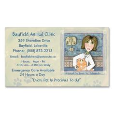 #Veterinarian  Ginger Persian #Cats #BusinessCards #vets #animalHospitals #pets
