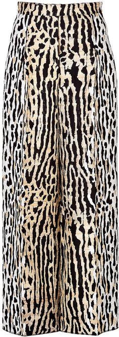 Valentino Animal Print Wide Leg Pants