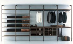 Walk-in cupboards-Wardrobes-Storage-Shelving-Storage Walk-in Closet-Porro