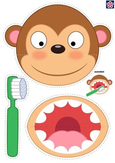 Education - If you have a preschool or kindergarten class learning about dental health then these worksheets all about dental hygiene are a great way Preschool Learning Activities, Free Preschool, Preschool Printables, Kindergarten Worksheets, Preschool Activities, Activities For Kids, Space Activities, Kindergarten Class, Free Printables