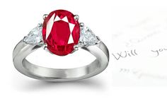Will You Marry Me? Ruby & Diamond Engagement Ring