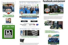 Pearson Mechanical Custom Facebook Page - Designed by The Marketing Twins Facebook Fan Page, The Marketing, Page Design, Twins, Gemini, Twin