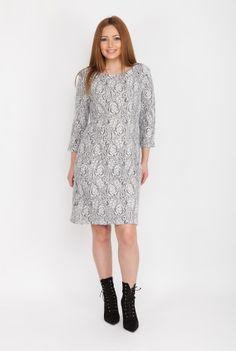 Rochie groasa din stofa CSF-213 -  Ama Fashion White Dress, Casual, Dresses, Fashion, White Dress Outfit, Moda, Vestidos, Fashion Styles, Dress