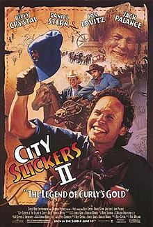 Jack Palance's Oscar acceptance speech calls for a sequel! Curly died in the first film, but haunts Mitch (Billy Crystal) with promises of gold in them thar hills. Now Mitch, brother Glen (Jon Lovitz) and friend Phil (Daniel Stern) are off on a gold rush.