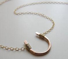 HORSESHOE NECKLACE by Olive Yew