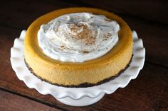 Here's an easy Pumpkin Cheesecake recipe- in the oven in 20 minutes. It turns out creamy and perfect. Photograph included.