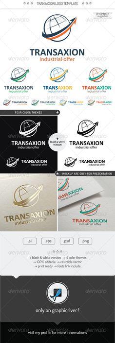 Transaxion   Logo Design Template Vector #logotype Download it here: http://graphicriver.net/item/transaxion-logo-template/7398453?s_rank=730?ref=nesto