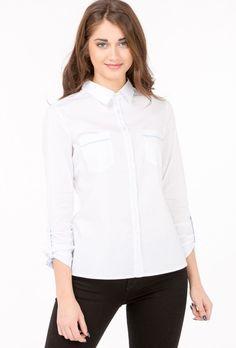 Bluzka koszulowa z lamówką