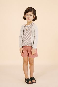 frinton top & padstow shorts - caramel baby & child