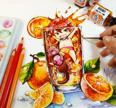 Manga Anime, Anime Expo, Anime Chibi, Anime Art, Anime Kawaii, Kawaii Art, Copic, Nashi, Anime Girl Crying