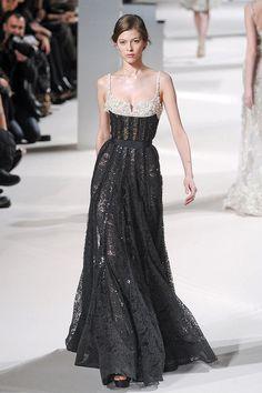 Elie Saab spring 2011 Black & Silver lace dress